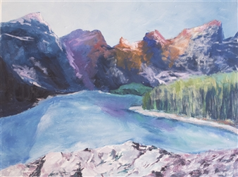 Margaret Adams - Tanner Mountains Oil on Canvas, Paintings