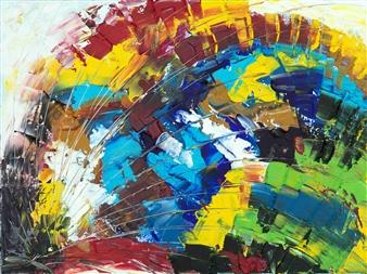 RAN - Positive Defiance Acrylic on Canvas, Paintings