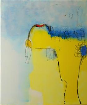 toNI Altenstrasser - Loner II Oil & Acrylic on Canvas Panel, Paintings