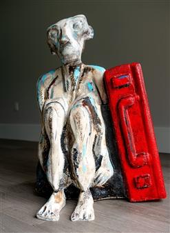 Sahar Khalkhalian - Out of Time Acrylic, Mixed Media & Fiberglass, Sculpture