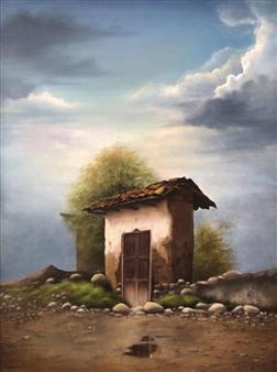 Mauricio Valdiviezo - Porton Acrylic on Canvas, Paintings