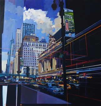 Josep Francés Anaya - Grand Central Terminal Oil on Canvas, Paintings