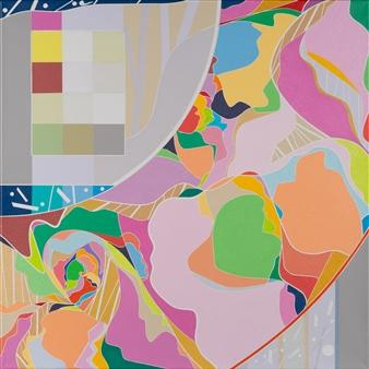 Ai-Wen Wu Kratz - Five Sonnets No.3 Acrylic on Canvas, Paintings