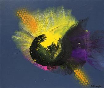 Jon Kraja - This is the End 1 Acrylic & Spraypaint on Canvas, Paintings