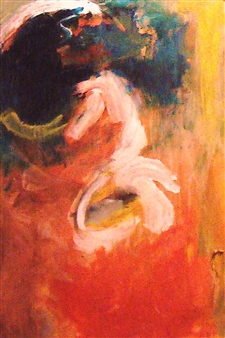 Clea von Döhren - Seahorse / Dancing Woman (Turning) Acrylic on Linen, Paintings