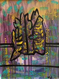 Olivia Kapoor - Silhouette 3 Acrylic on Canvas, Paintings