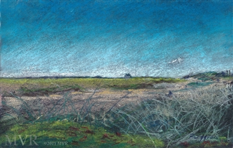 Michael Victor ▪ MVR - Cape Cod Tidal Dune Provincetown, MA Mixed Media Digital Print, Mixed Media