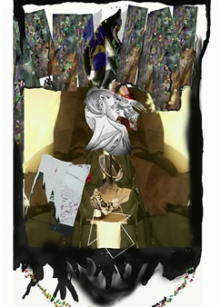 Andrew Knox - Parlour Games Digital Collage, Digital Art