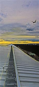 Claudia Breidenbach - Skywalk Acrylic & Photograph on Canvas, Mixed Media