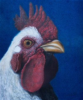 Julius L. Meyer - Rio Rancho Rooster Acrylic & Oil on Canvas, Paintings