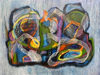 Sal Ponce Enrile - Equilibrium Mixed Media on Canvas, Mixed Media