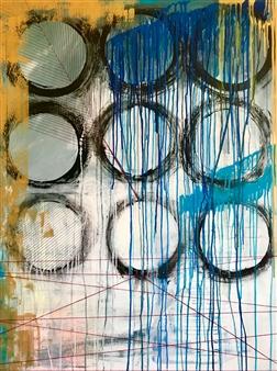 Grażyna Aneta Ochowiak - Fulfillment Acrylic & Mixed Media on Canvas, Mixed Media