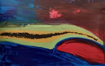 Eduardo Vidal - Rio Nilo Acrylic & Mixed Media on Canvas, Mixed Media