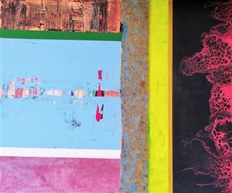 Sylke Singelmann - Bunt Nr. 3 Acrylic & Mixed Media on Canvas, Mixed Media