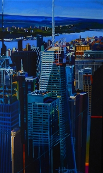 Josep Francés Anaya - Bank of America Oil on Canvas, Paintings