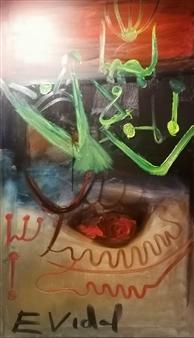 Eduardo Vidal - Ecstasy of Appearances Oil Pastel on Canvas, Paintings