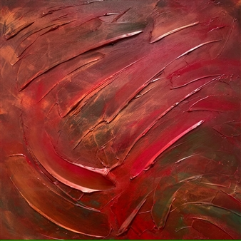 Chadwick Arcinue - Red VII a Acrylic on Canvas, Paintings