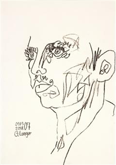 Gunter Langer - Magische Vision Pen on Paper, Drawings