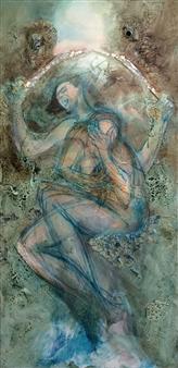 The KonKons - Artemisia Mixed Media on Canvas, Mixed Media