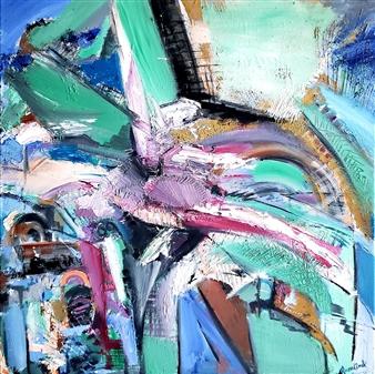 Rosalind Panda Dykla - Infinite Peace Oil on Canvas, Paintings