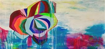 Grażyna Aneta Ochowiak - Colorful Vibes Acrylic & Spraypaint on Canvas, Paintings