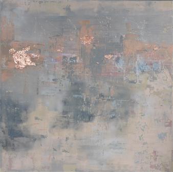 Jeannette Dannehl - Allurement Acrylic & Copper Leaf on Canvas, Paintings