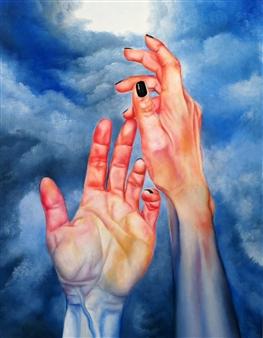 Stacie Hernandez - Unclear Oil on Wood, Paintings