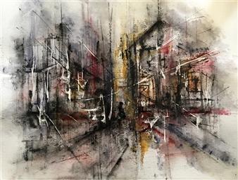 Dana Ingesson - Tears of Night Watercolor on Paper, Paintings