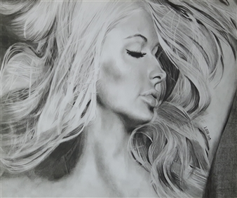 Latoya Tidd - Paris Pencil on Paper, Drawings