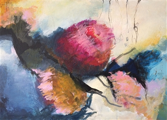Annette Balsgaard - Garden Acrylic on Canvas, Paintings