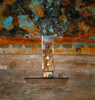 Stefano Sanna - Tower Trilogy 3 Mixed Media on Plastic, Wood & Metal, Mixed Media