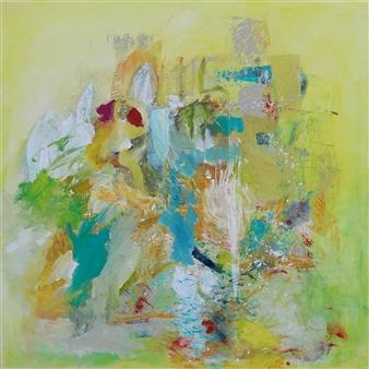 Gerlinde Amei Wöllmer - o.T. Acrylic & Mixed Media on Canvas, Mixed Media