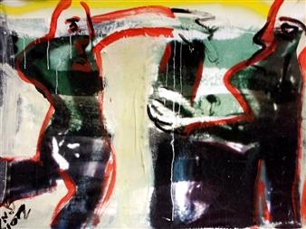 Gatscher<br /> von Burgsdorff - Give Acrylic on Canvas, Paintings