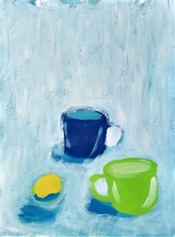Yu He - Still Life No.590 Acrylic on Paper, Paintings