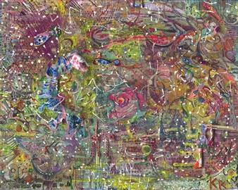Denel-KK (Kristen Keeling) - Wind Phone Mixed Media on Canvas, Mixed Media