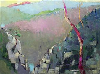 Becky Sungja Kim - Early Morning Oil on Canvas, Paintings
