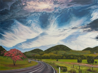 Sandra Guy - The Road to Mooball Oil on Linen, Paintings