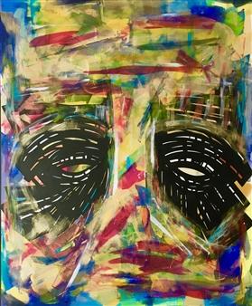 Talal Pascal Chadli - Reflet d'Ame 4 Acrylic on Canvas, Paintings