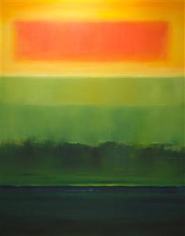 María de Echevarría - Source #2 Oil over Acrylic on Canvas, Paintings
