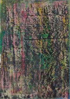 François-Jérôme Bringuier - Infiltrations Oil on Paper, Paintings