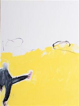 toNI Altenstrasser - Tanz-Mann Mit Rosa Schuhen Oil on Water Paper, Paintings
