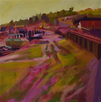 Julia Rowlands - Leigh on Sea II Oil on Canvas, Paintings