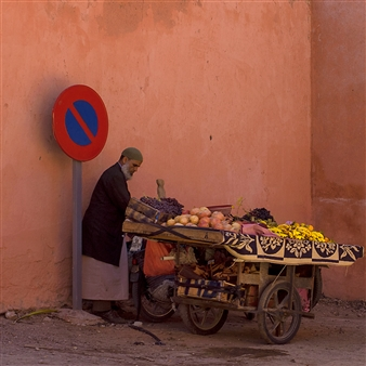 Moving Elephant by Mark - Marrakech No Parking Photograph on Hahnemühle Paper, Photography