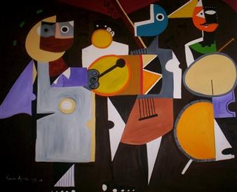 Leandro Miguel Cruz - Merengue Oil on Canvas, Paintings