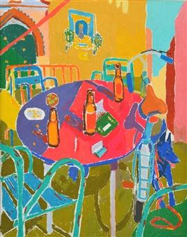 Manuel Jiménez Palma - Beers in Andalusia. Pastel on Paper, Paintings