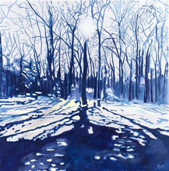 Gabriella Mirabelli - Croton Point Winter Acrylic on Canvas, Paintings