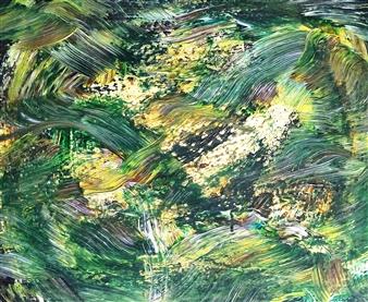 Makoto Oshima - No. 210511 Acrylic on Canvas, Paintings