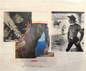 William Atkinson - Lane Marker 3 Mixed Media & Collage on Board, Mixed Media