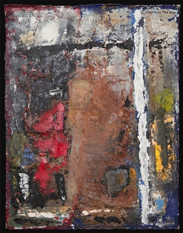 Ludwig Mannhalter - No. 5 Acrylic, Oil & Mixed Media on Canvas, Mixed Media
