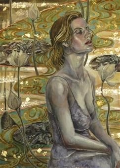 Yuki Goodman - Requiem I Watercolor & Ink on Paper, Paintings